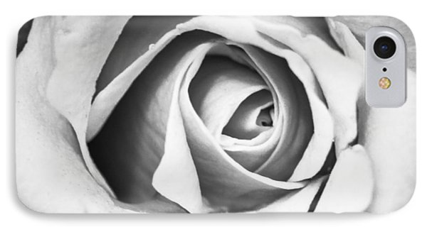 A Rose In Black And White IPhone Case by Wade Brooks