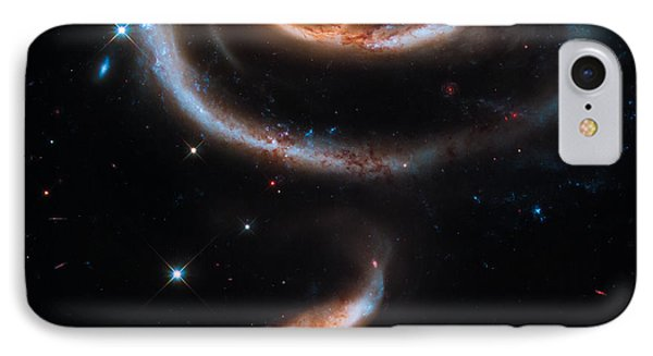 A Rose Made Of Galaxies IPhone Case by Marco Oliveira