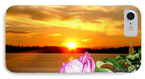 A Rosy Sunset In Maine IPhone Case by Donnie Freeman