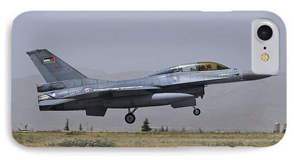 A Royal Jordanian Air Force F-16b IPhone Case by Riccardo Niccoli