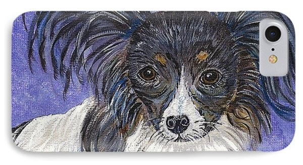 IPhone Case featuring the painting A Royal Papillon by Ella Kaye Dickey
