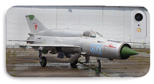 A Russian Mig-21smt Fighter Plane Phone Case by Timm Ziegenthaler