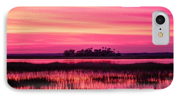 A Saint Helena Island Sunset IPhone Case by Patricia Greer