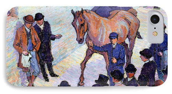 A Sale At Tattersalls, 1911 IPhone Case by Robert Polhill Bevan