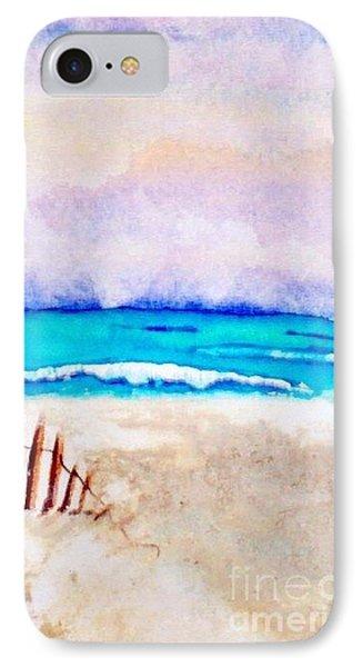 A Sand Filled Beach Phone Case by Chrisann Ellis