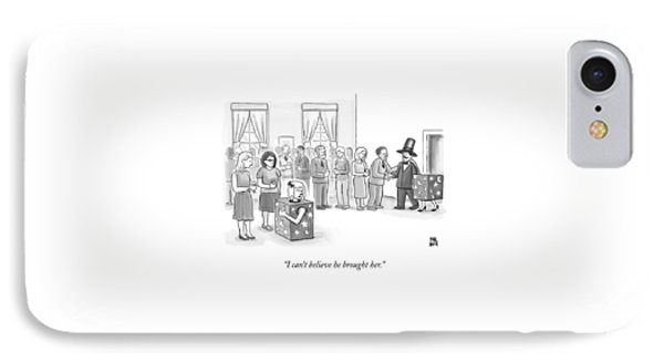 A Sawed-in-half Magician's Assistant Scowls IPhone Case by Paul Noth
