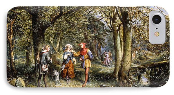 A Scene From As You Like It Rosalind Celia And Jacques In The Forest Of Arden IPhone Case by John Edmund Buckley