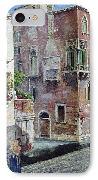 A Scene In Venice IPhone Case by Sir Caspar Purdon Clarke