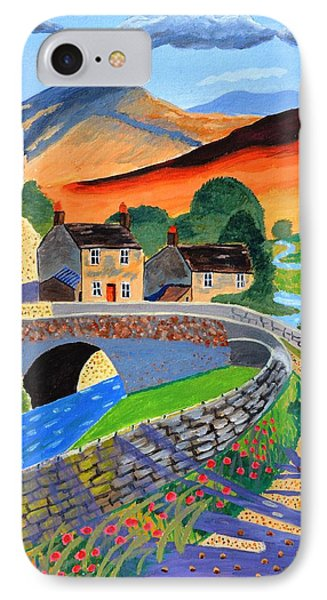 IPhone Case featuring the painting a Scottish highland lane by Magdalena Frohnsdorff