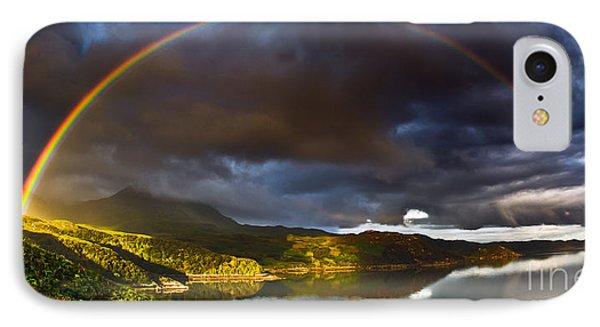 A Scottish Highland Rainbow Kylesku Phone Case by John Farnan