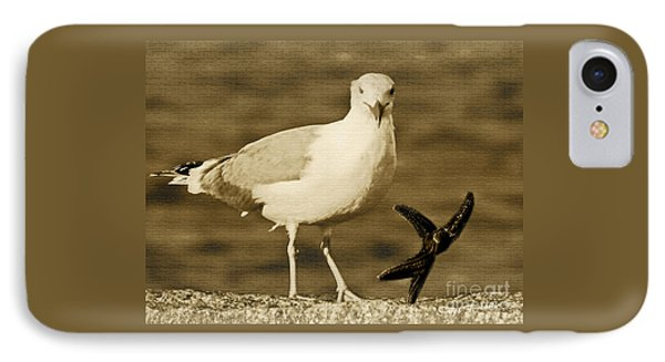 A Seagull Kind Of Day IPhone Case by Carol F Austin