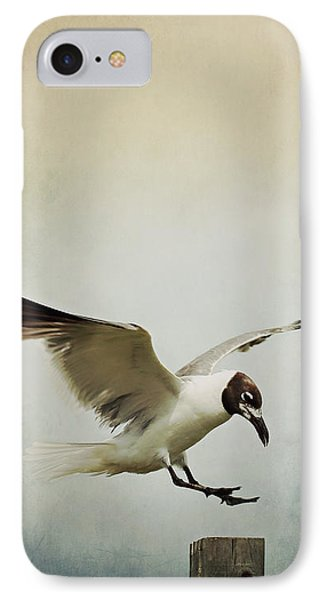 A Seagull's Landing IPhone Case by Trish Mistric