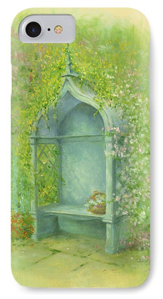A Seat In The Garden IPhone Case by Garry Walton
