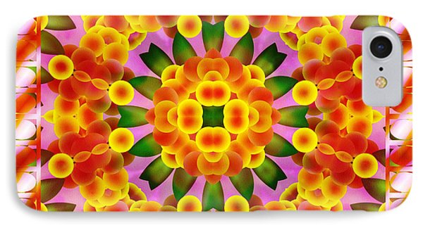 IPhone Case featuring the digital art A Semblance Of Flowers by Mario Carini