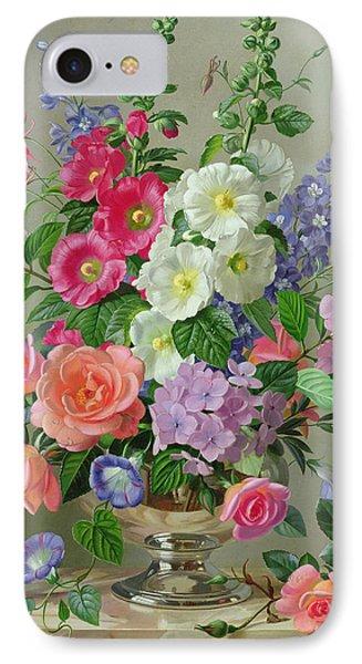A September Floral Arrangement IPhone Case by Albert Williams