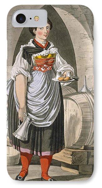 A Serving Girl At An Inn IPhone Case by Josef Anton Kapeller