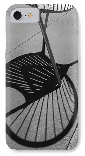 IPhone Case featuring the photograph A Shadow Cast - Abstract by Steven Milner