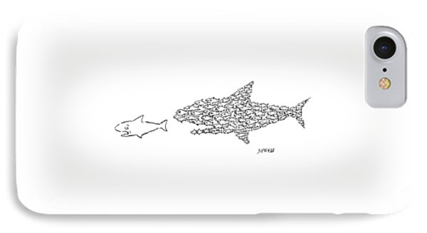 A Shark Is Chased By A School Of Fish That IPhone Case