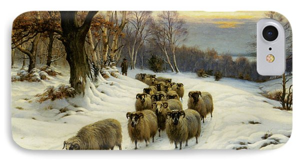 A Shepherd And His Flock IPhone Case by Wright Barker