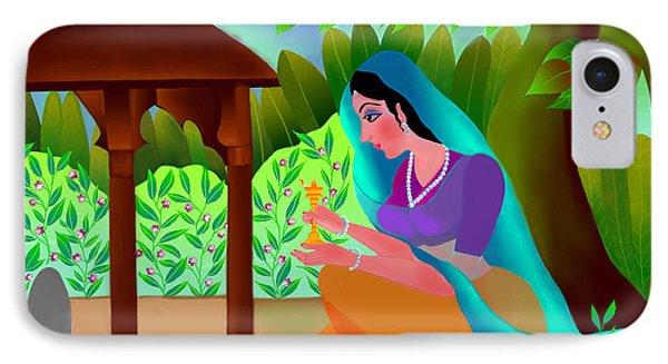 IPhone Case featuring the digital art A Silent Prayer In Solitude by Latha Gokuldas Panicker