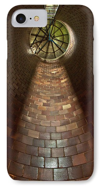 IPhone Case featuring the photograph A Silo Of Light From Above by Jerry Cowart