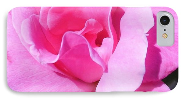 A Single Pink Rose Phone Case by Eloise Schneider