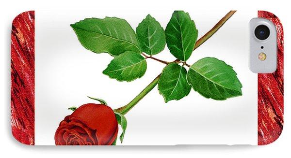 A Single Rose Burgundy Red IPhone Case by Irina Sztukowski
