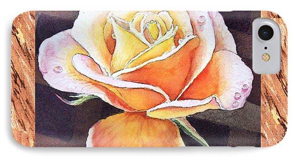 A Single Rose Dew Drops On Ruffles  IPhone Case by Irina Sztukowski