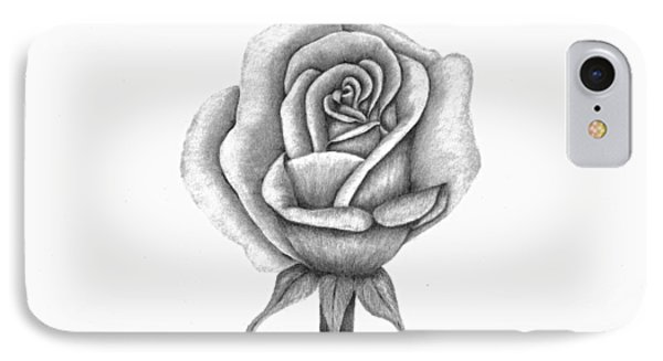 A Single Rose IPhone Case by Patricia Hiltz