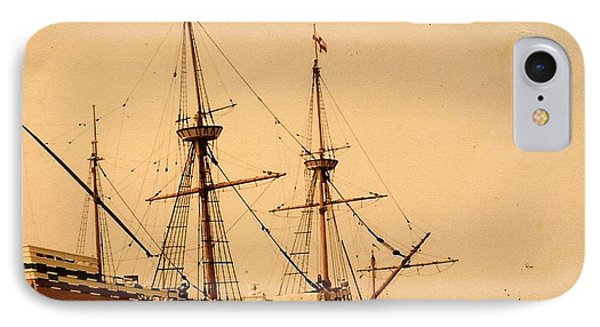 A Small Old Clipper Ship IPhone Case by Amazing Photographs AKA Christian Wilson