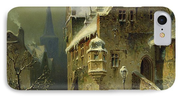 A Small Town In The Rhine IPhone Case by August Schlieker