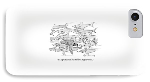 A Smaller Fish Is Talking To Other Larger Fish IPhone Case by Danny Shanahan