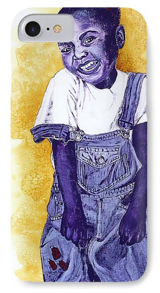 A Smile For You From Haiti Phone Case by Margaret Bobb