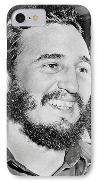 A Smiling Fidel Castro IPhone Case by Underwood Archives