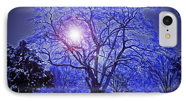 A Snow Glow Evening IPhone Case by Lydia Holly