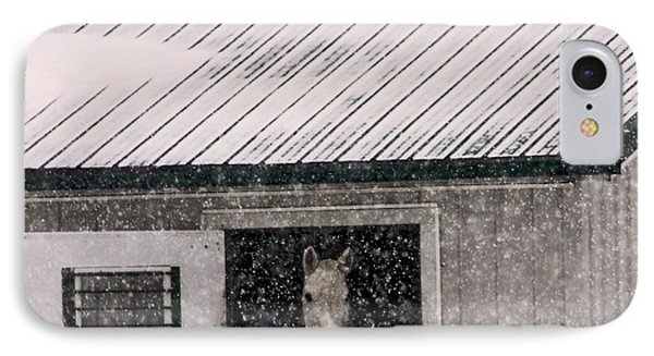 IPhone Case featuring the photograph A Snowfall At The Stable by Bruce Patrick Smith