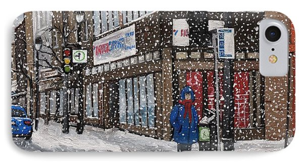 A Snowy Day On Wellington Phone Case by Reb Frost