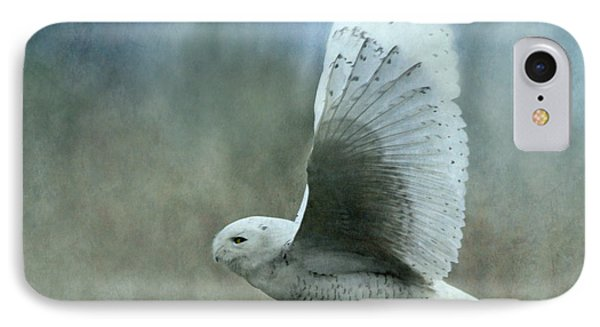 A Snowy Flight Phone Case by Angie Vogel