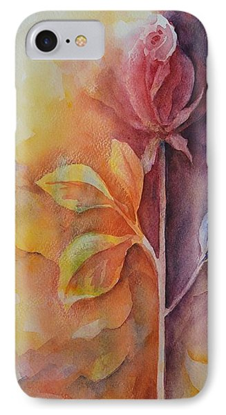 A Solitary Rose IPhone Case by Kathleen Pio