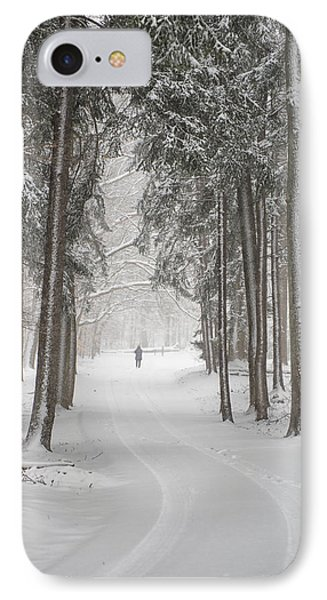 A Solitary Winter Wanderer Phone Case by Dick Wood