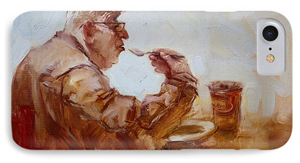 A Soupe Break At Tim Hortons IPhone Case by Ylli Haruni