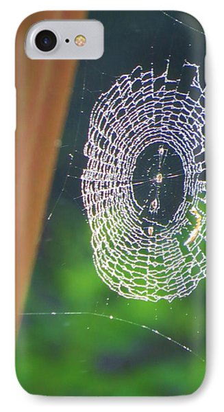IPhone Case featuring the photograph A Spider Was Busy by Jeanette Oberholtzer
