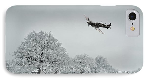 A Spitfire Winter  IPhone Case by J Biggadike