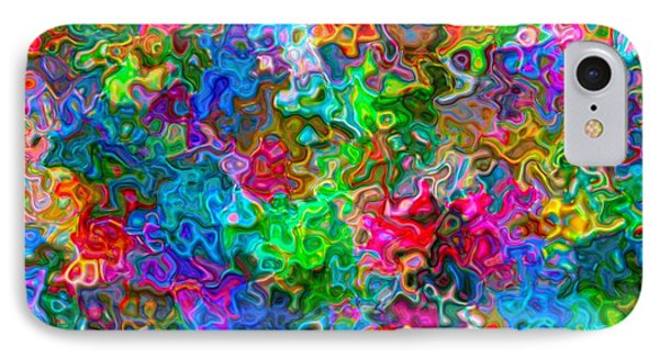 IPhone Case featuring the digital art A Splash Of Colors... by Tim Fillingim
