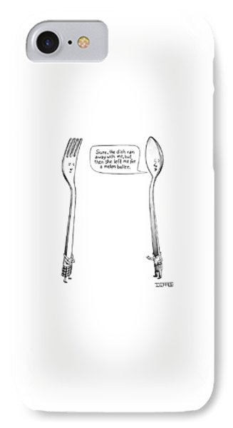 A Spoon Talks To A Fork IPhone Case