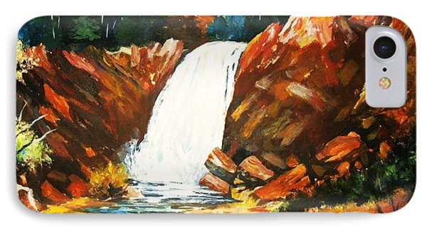 IPhone Case featuring the painting A Spout In The Forest by Al Brown