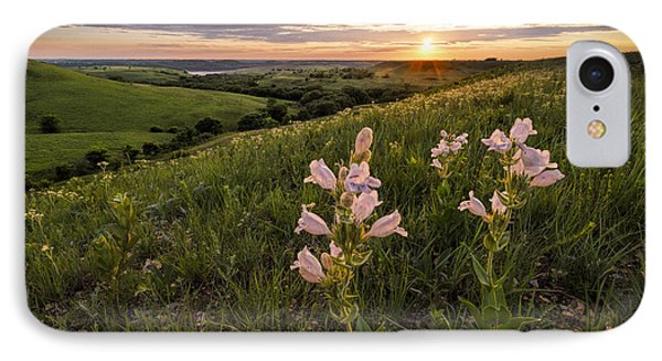 A Spring Sunset In The Flint Hills IPhone Case by Scott Bean