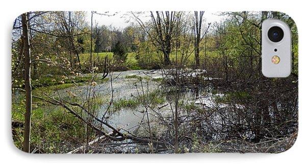 A Spring Pond IPhone Case by Susan Wyman