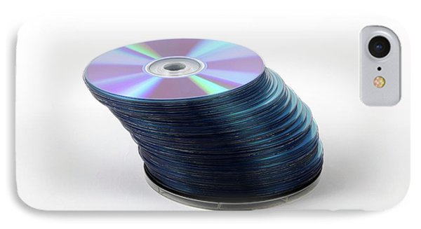 A Stack Of Recordable Discs IPhone Case by Photostock-israel