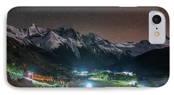 A Starry Night In Laigu Village, Tibet IPhone Case by Jeff Dai